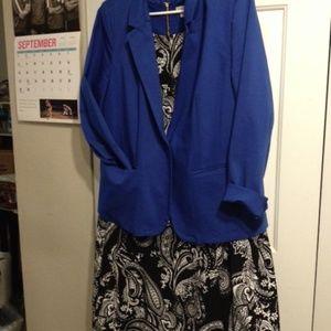 Career Blue Suit Blazer - LB Modernist Collection